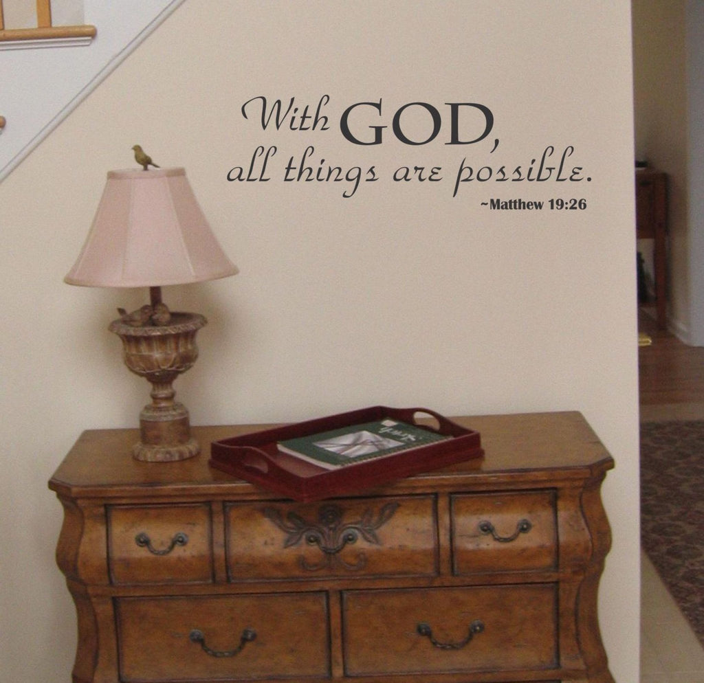 With God all Things are Possible wall decal - Arise Decals