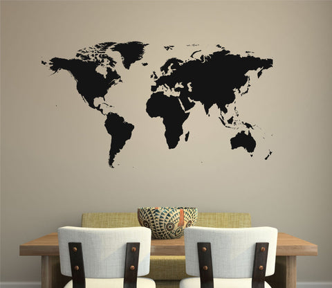 World Map Wall Decal - Arise Decals