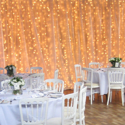 20' X 10' White Chiffon Backdrop - Bella Angel Event Decor