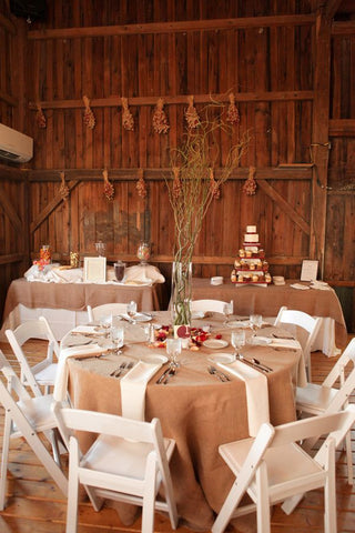 Burlap Linens - Bella Angel Event Decor