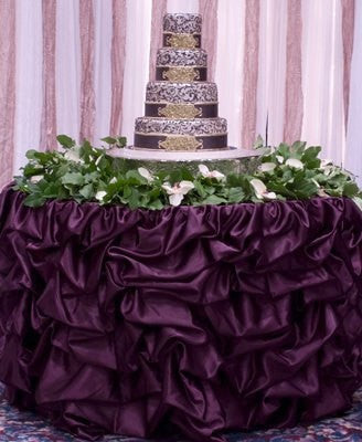 Romantic Gathered Table Skirt - Bella Angel Event Decor