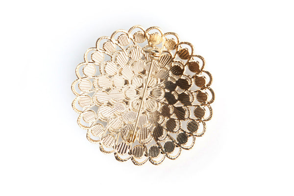 Gold Rhinestone Brooch - Bella Angel Event Decor