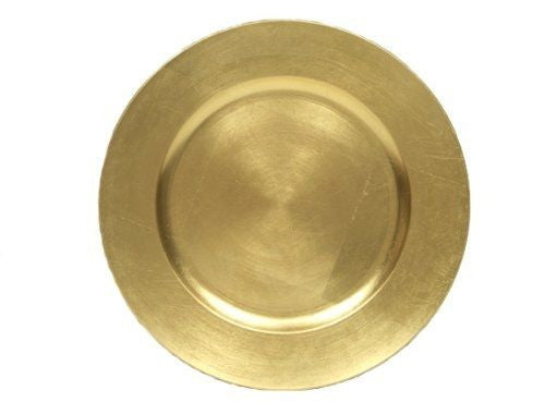 "13"" Gold Charger Plate - Bella Angel Event Decor"
