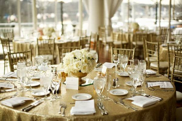 Champagne Sequin Linens - Bella Angel Event Decor