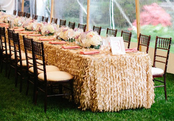 Leaf Petal Linens - Bella Angel Event Decor