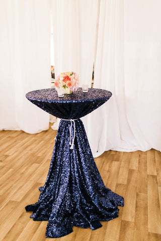 Navy Sequin Linens - Bella Angel Event Decor