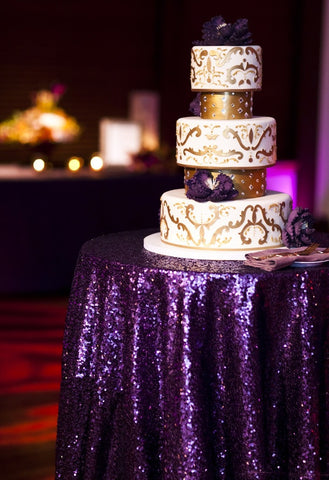 Purple Sequin Linens - Bella Angel Event Decor