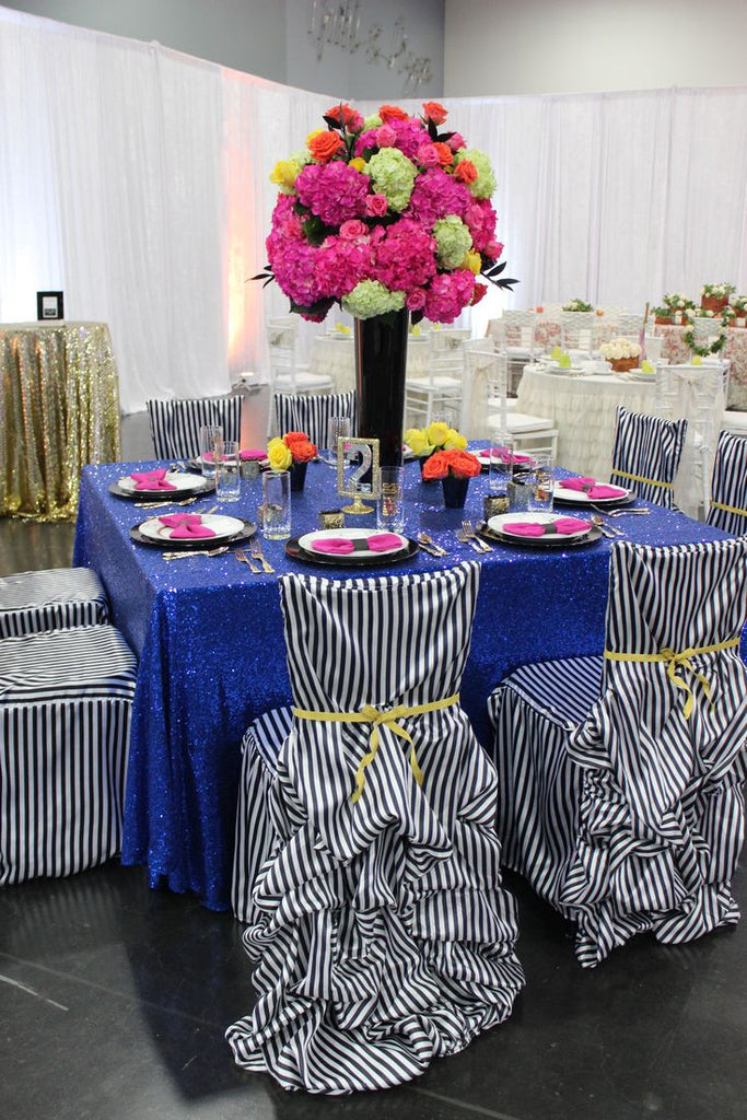 Royal Blue Sequin Linens - Bella Angel Event Decor