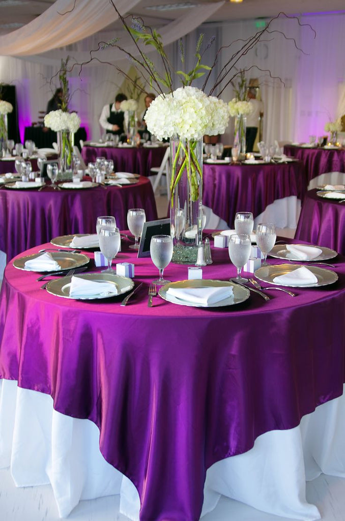 Satin Table Overlays - Bella Angel Event Decor