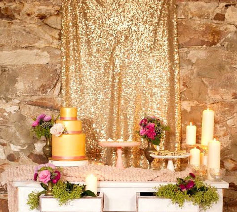 "8ft X 52"" Sequin Backdrop - Bella Angel Event Decor"