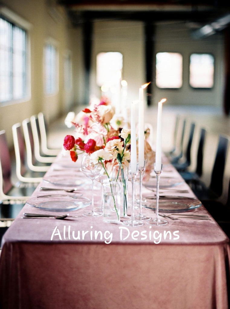 "Luxurious Velvet 90""x156"" Tableclothes - Bella Angel Event Decor"
