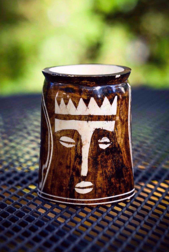 Toothpick Holder | African Mask - Nyora Beads