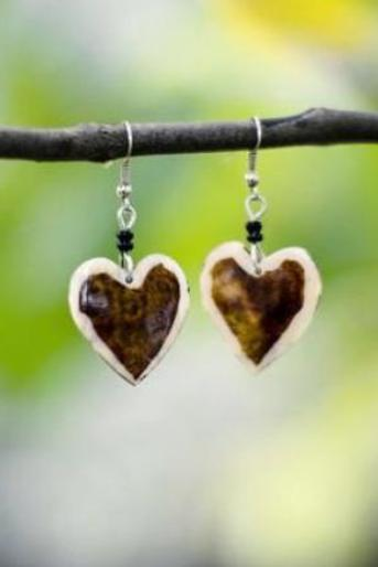Heart Earrings from Kenya