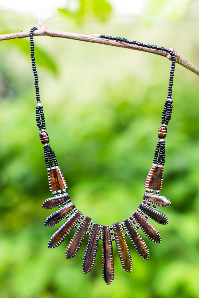 Roselyn Necklace | Brown - Nyora Beads