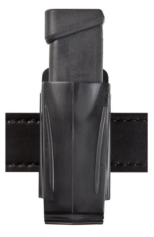 Safariland 71 Injection Molded Single or Double Mag Pouch, Plain Black, Heavy Duty Snap-On Belt Clip