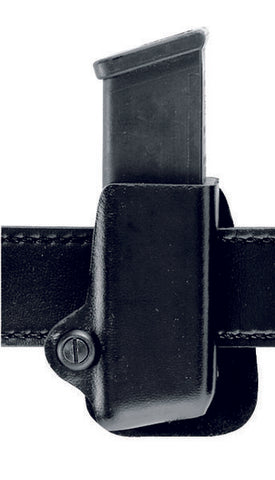 Safariland 074 Open Top Single Magazine Pouch, Paddle, Single Stacked 9mm Magazines (Browning HP, BDM 9mm), Plain Black, Left Hand