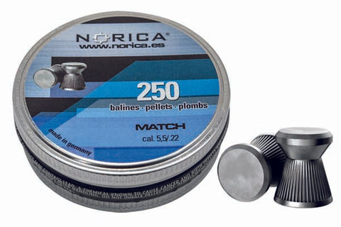 Norica Match Pellets .22 Caliber 250/tin