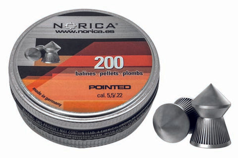 Norica Pointed Pellets .22 Caliber 200/box