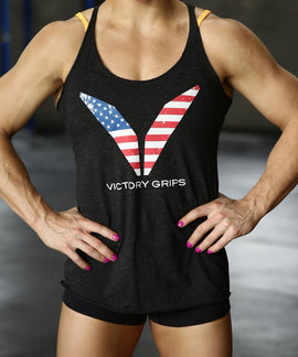 Women's USA Flag Logo Tank