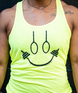 Women's Neon Yellow Happy Strong Tank