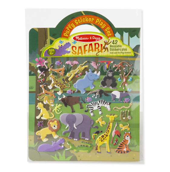 Melissa & Doug Puffy Sticker Play Set - Safari