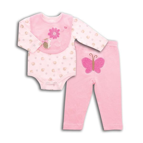 3 Piece Pink Hedgehog Set