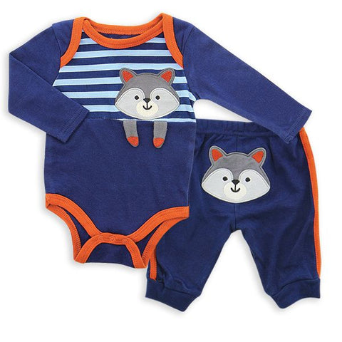 2-Piece Baby Bodysuit and Jogger Set - Raccoon