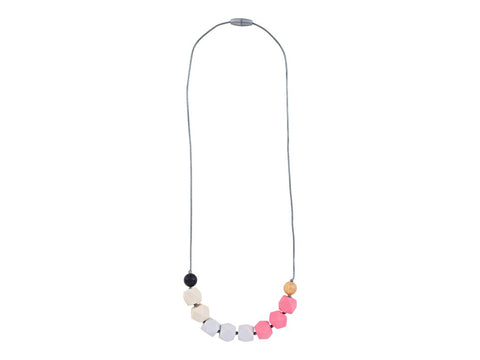 Itzy Ritzy Cube Necklace Opal Blush