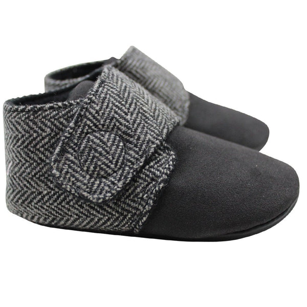 Gray Tweed Baby Boots