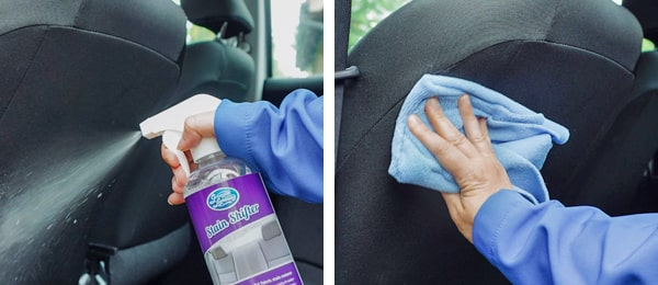 Seat spray and wipe