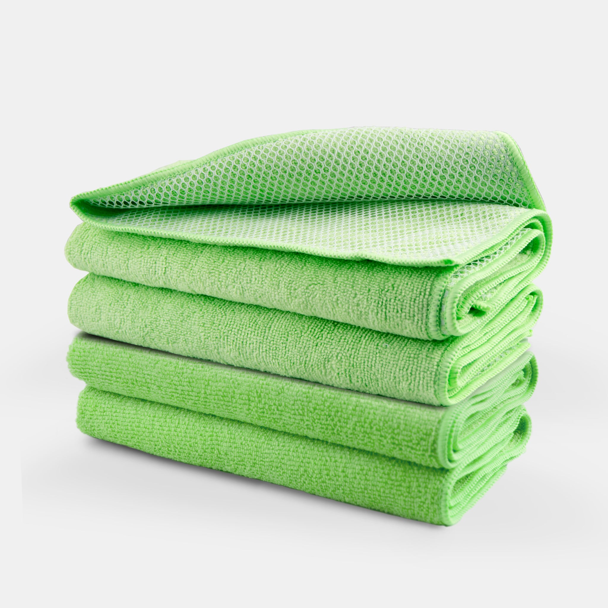 Greased Lightning Microfibre Netted Cloths in Green