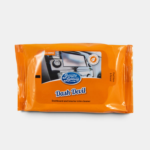 Greased Lightning Dash Devil 100% biodegradable handy wipes