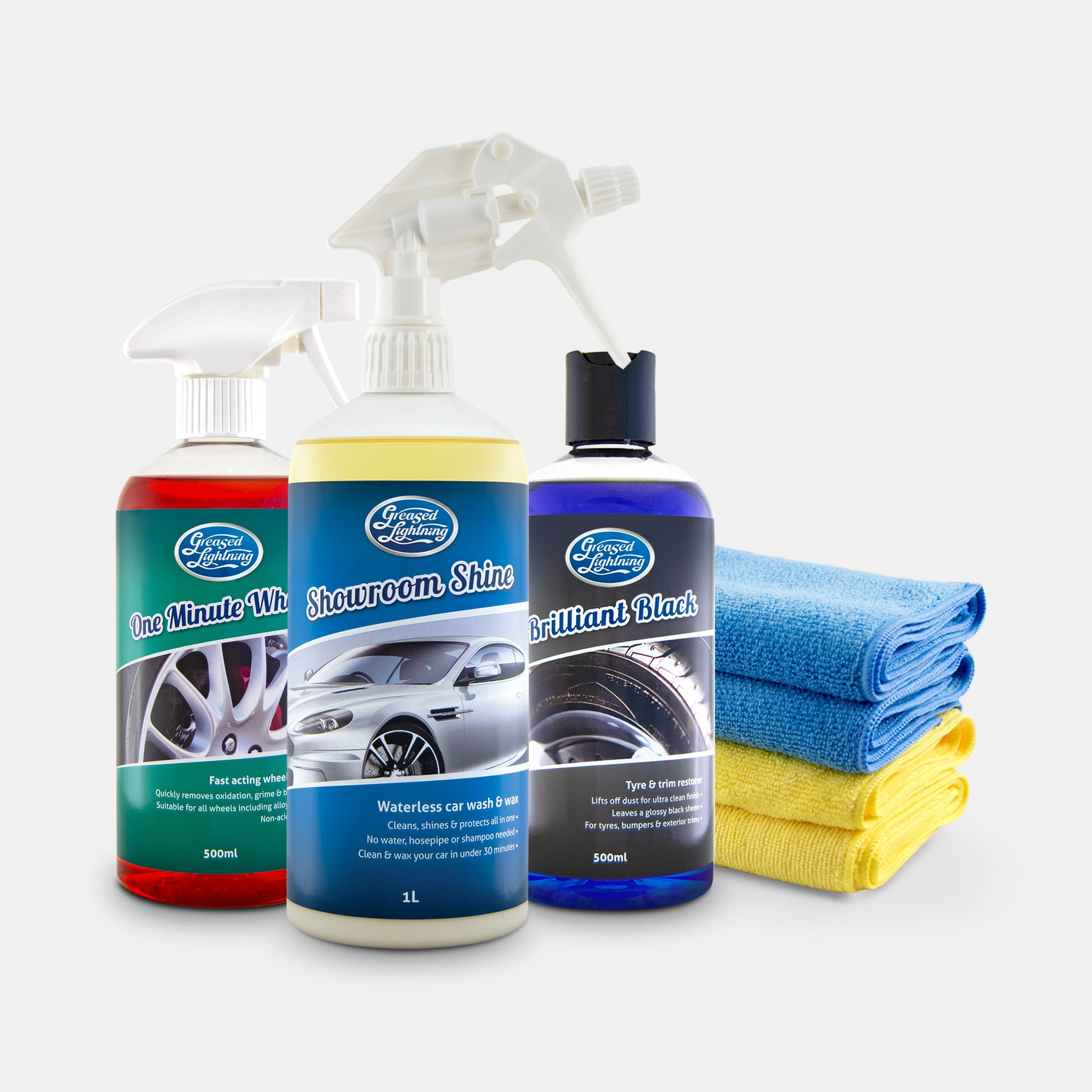 Greased Lightning Exterior Valeting Car Care Bundle Pack