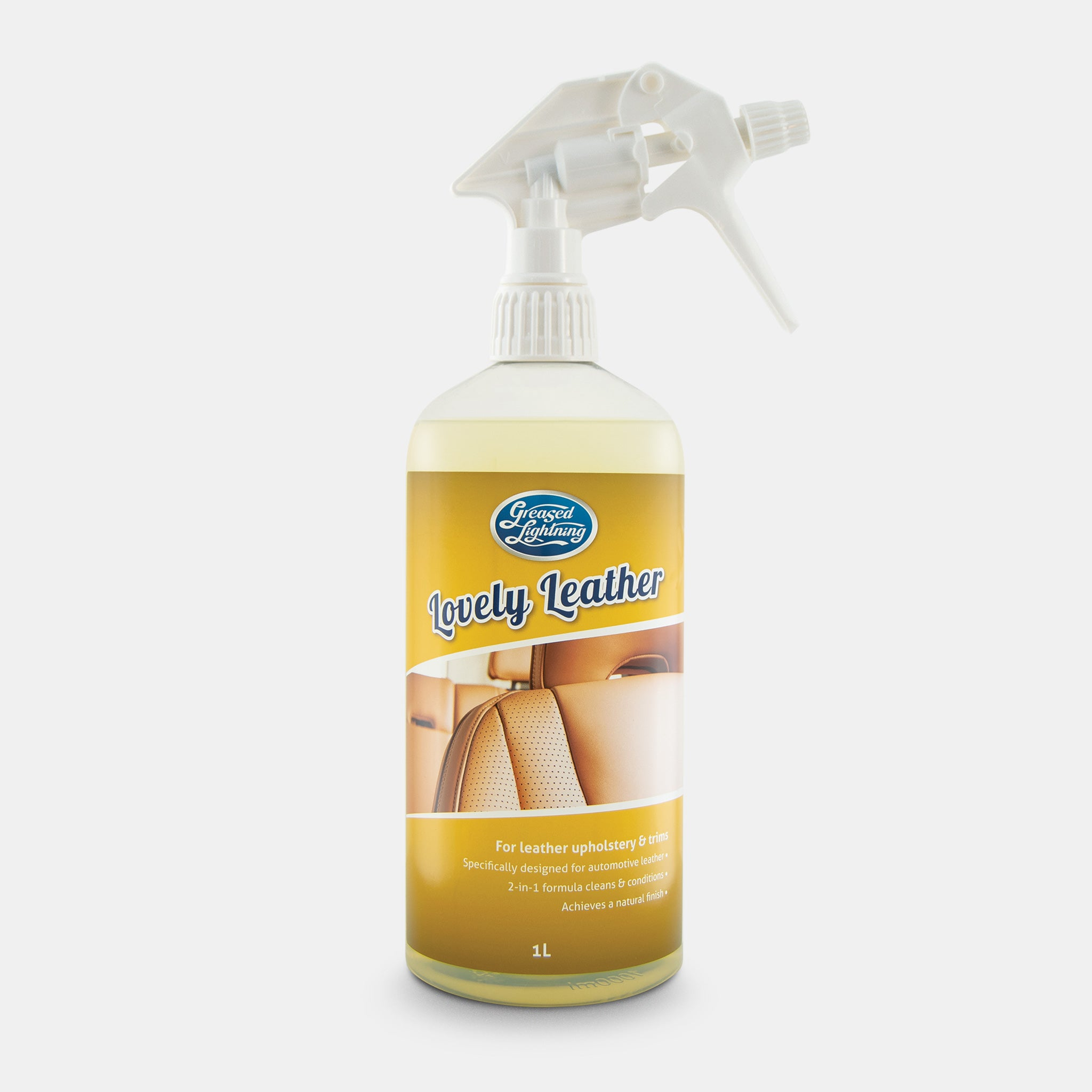 Greased Lightning Lovely Leather Automotive Leather Cleaner
