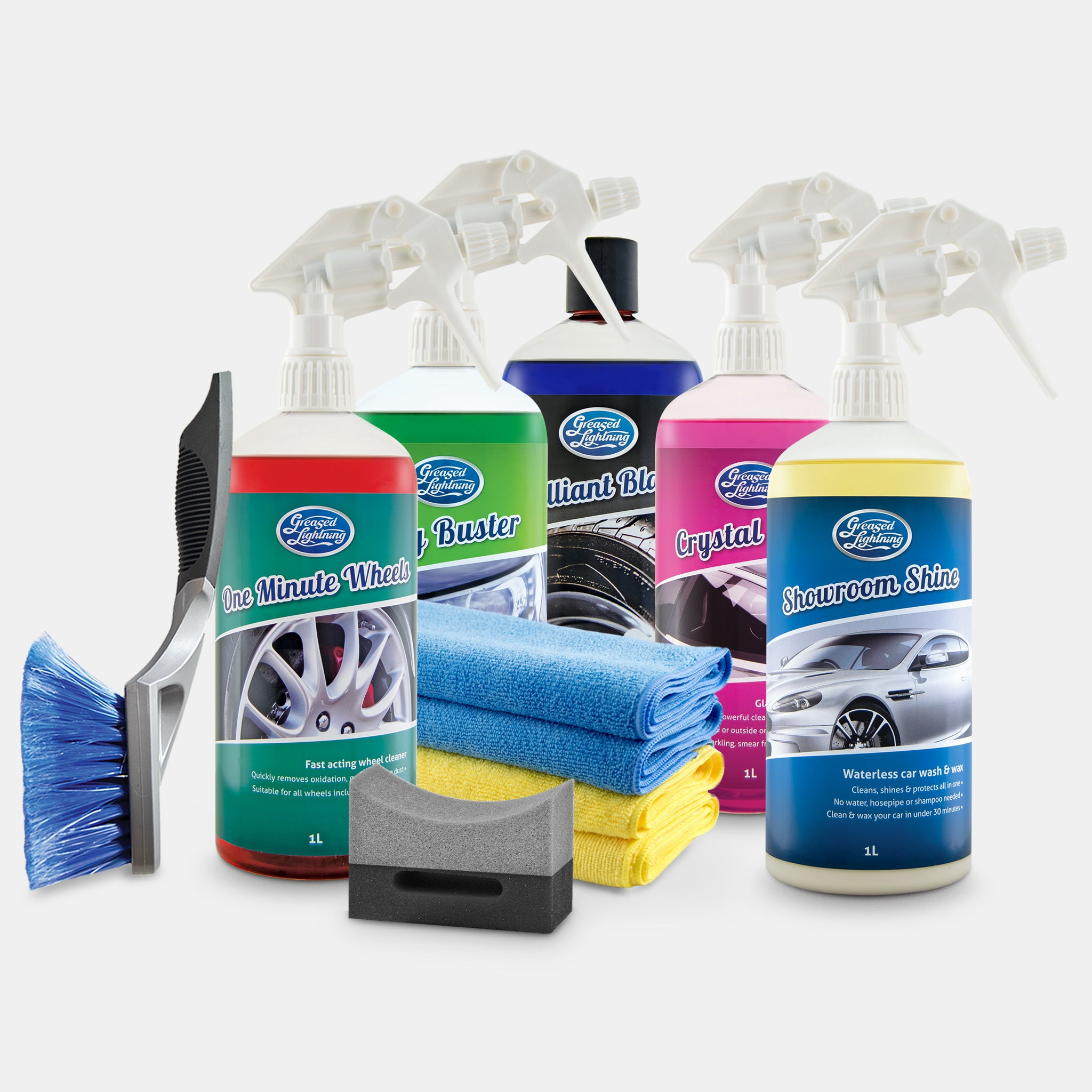 Greased Lightning Ultimate Car Care Cleaning Bundle