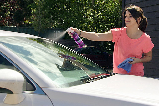 It's not your typical glass cleaner.