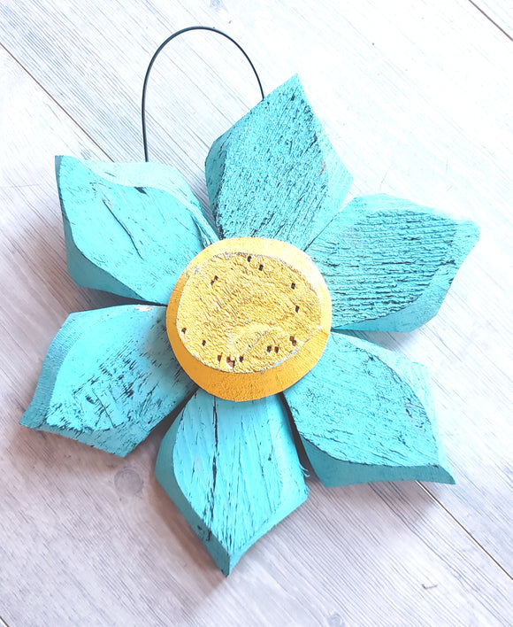 Colorful Wooden Flowers