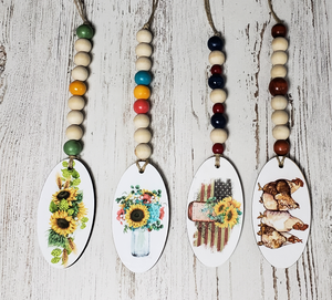 Wood Beads with Tag