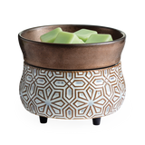 Bronze Geometric 2-n-1 Wax Warmer