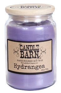 Hydrangea - 26 oz. candle comes in an apothecary glass with a wooden lid