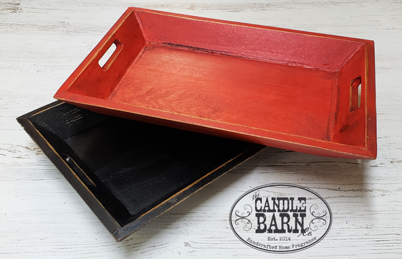 Wood Tray - Beveled sides
