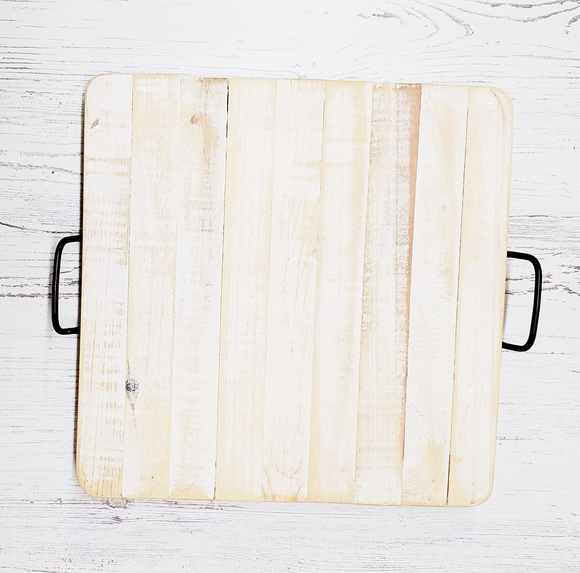 Wood Tray - w/Handles