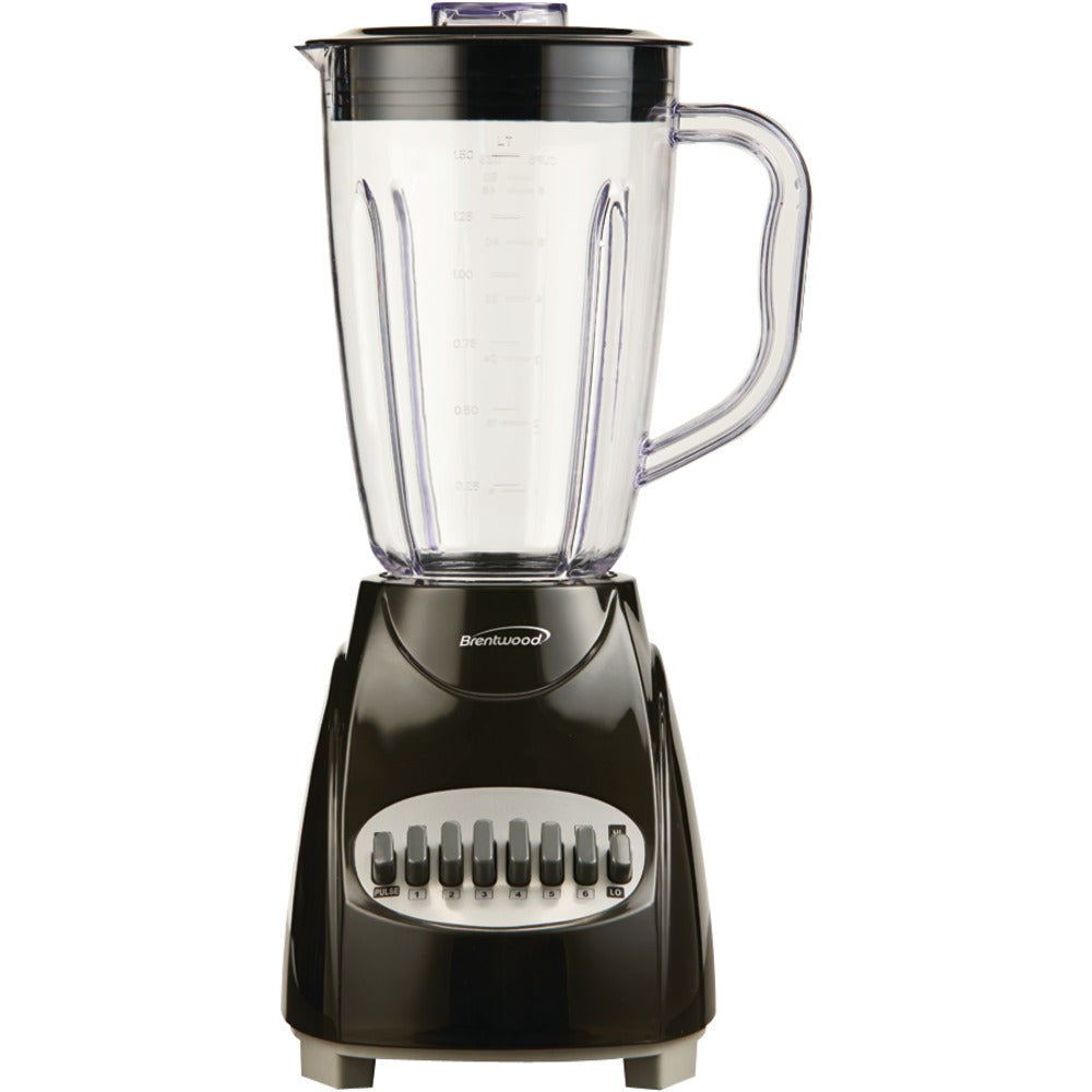 Brentwood Appliances JB-220B 50-Ounce 12-Speed + Pulse Electric Blender with Plastic Jar (Black)