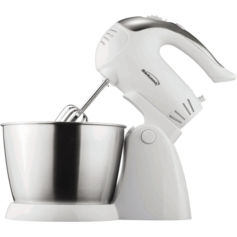 Brentwood Appliances SM-1152 5-Speed + Turbo Electric Stand Mixer with Bowl (White)