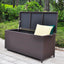 Outdoor Patio Wicker Storage Container Deck Box,20-Gallon (Brown)
