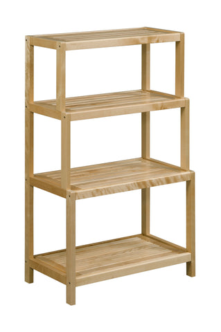 Dunnsville 4-Tier Stepback Shelf: Antique Chestnut