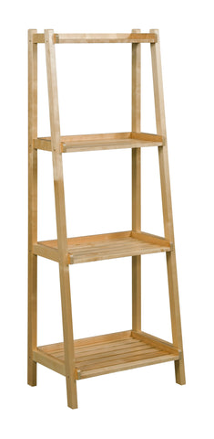 Dunnsville 4-Tier Ladder Shelf: Antique Chestnut