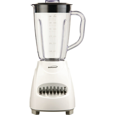 Brentwood 12-Speed Blender with Plastic Jar, White