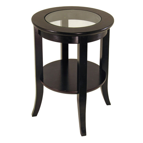 GENOA END TABLE INSET GLASS AND SHELF