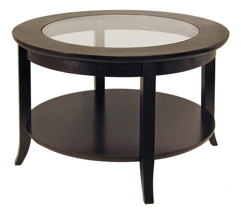 GENOA COFFEE TABLE INSET GLASS AND SHELF